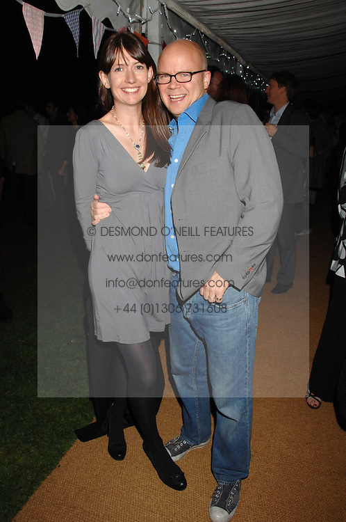 TOBY &amp; CAROLINE YOUNG at a party to celebrate the 100th issue of Waitrose's Food Illustrated magazine held at The Physic Garden, Chelsea, London on 13th September 2007.<br /><br />NON EXCLUSIVE - WORLD RIGHTS