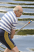 Maidenhead. Great Britain. Amateur Punting Championship, Men's Single. Mike HART,  Thames Punting Club Regatta. River Thames, Bray Reach. Sunday  14/08/2011   [Mandatory credit: Peter Spurrier Intersport Images]