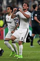 can - 14.03.2017 - Torino - Champions League  -  Juventus-Porto nella  foto: Claudio Marchisio esulta a fine partita