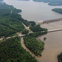 Fishing Creek Dam (locally known as Nitrolee) and US Hwy 21/SC Hwy 200 near Great Falls, SC