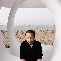 Spring Fever's director Lou Ye at the Martini Terrasse during the Cannes Film Festival. France. 14 May 2009. Photo: Antoine Doyen