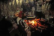 Cooking turkey soup near La Maquina, Guantanamo, Guantanamo, Cuba.