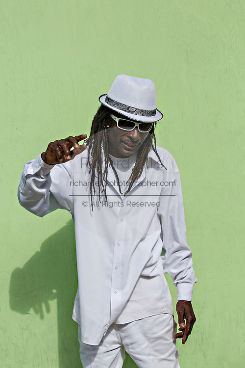 A well dressed Bahamian Rastafarian in Nassau, Bahamas.