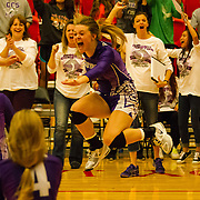 Community Christian's Holly Priest celebrates the Royals' win over second ranked Oklahoma Union during Friday's Class 3A state tournament match at Westmoore. - Nicholas Rutledge/For The Transcript (Published on Saturday, October 11, 2014)