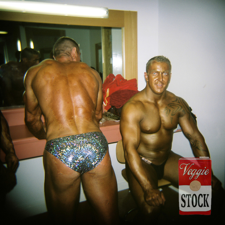 4 October 2008; Competitors back stage at the RIBBF (Republic of Ireland Body Building Federation) National Championships held in Limerick at the Millennium Theatre, LIT, Ireland.