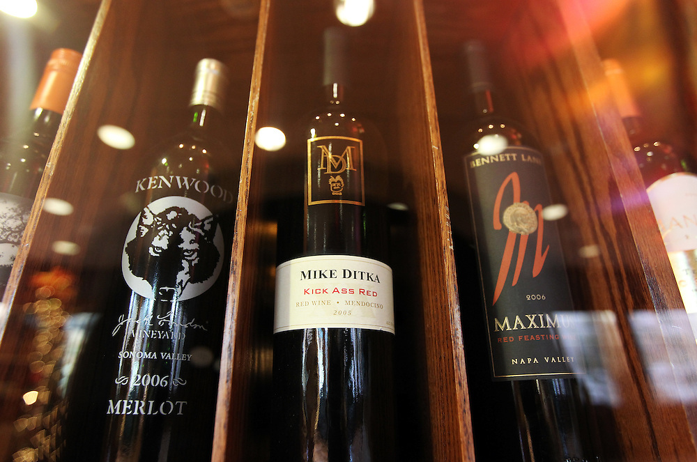 "A bottle of Mike Ditka's 2005 ""Kick Ass Red"" wine is available for $78 in The Winds Steakhouse at Grand Casino Hinckley December 20, 2011."