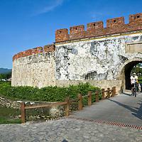 The old city wall near Shoushan Mountain, a popular hiking area.