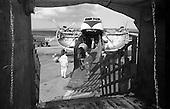 1963 - B.K.S. Air Transport Ltd. Bristol Type 170 Freighter at Dublin Airport unloading horses