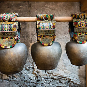 Cow bells. Appenzell Museum, which is in the town hall, shows a cross section of the Swiss Canton's history and culture. Appenzell village is in Appenzell Innerrhoden, Switzerland's most traditional and smallest-population canton (second smallest by area).