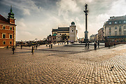 Castle square (Plac Zamkowy) Warsaw Poland photography by Piotr Gesicki