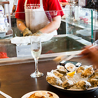 The Rappahannock River Oyster Company oyster bar was packed as diners tasted the 100-year old concern's fine bi-valves.