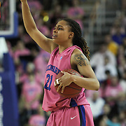 Delaware Guard Trumae Lucas (21) calls a offensive play in the Second half of a regular season NCAA basketball game against James Madison Sunday, Feb 24, 2013 at the Bob Carpenter Center in Newark Delaware.