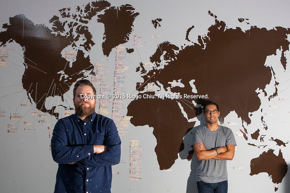 Joe Perez, right, (co-founder, Tastemade) and Jay Holzer (head of production, Tastemade).(Photo by Ringo Chiu/PHOTOFORMULA.com)
