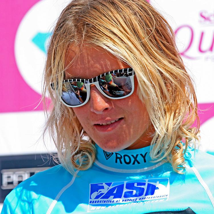 Jen Smith, 2nd Place finalist winner of the 3rd Annual Roxy Jam Linda Benson Women's World Longboard Professional, 2008, Cardiff by the Sea, California.