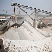 Ore is crushed into fine powder from which gold will be extracted through a chemical process at the Youga gold mine near the town of Youga, approximately 205 km southeast of Burkina Faso's capital Ouagadougou on Tuesday April 28, 2009..