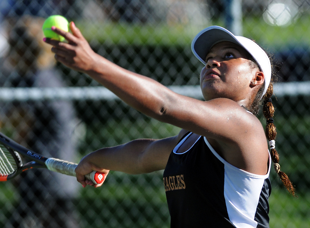 girls state tennis7/sports/jim thompson/ Girls 6A State Tennis championships.  Thursday May. 04, 2017. (Jim Thompson/Albuquerque Journal)