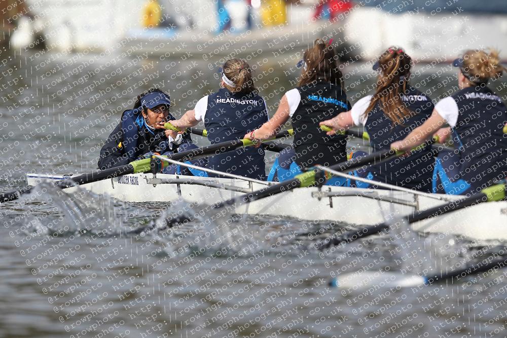2012.02.25 Reading University Head 2012. The River Thames. Division 1. Headington School Boat Club W.IM2 8+