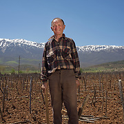 Kico Kitan (70) in his field near the village of Tuminec, Albania