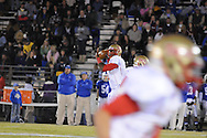 Lafayette High's Jeremy Liggins (1) passes vs. Senatobia High in Senatobia, Miss. on Friday, October 21, 2011. Lafayette High won.