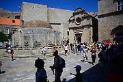 Big Onofrio's fountain in Old Town of Dubrovnik, Croatia