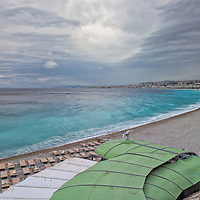 Beach on the French Riviera near Nice, France