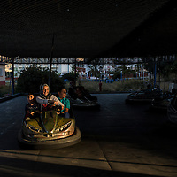 Bumper cars in the Eastern Turkey city of Tatvan. Van Province