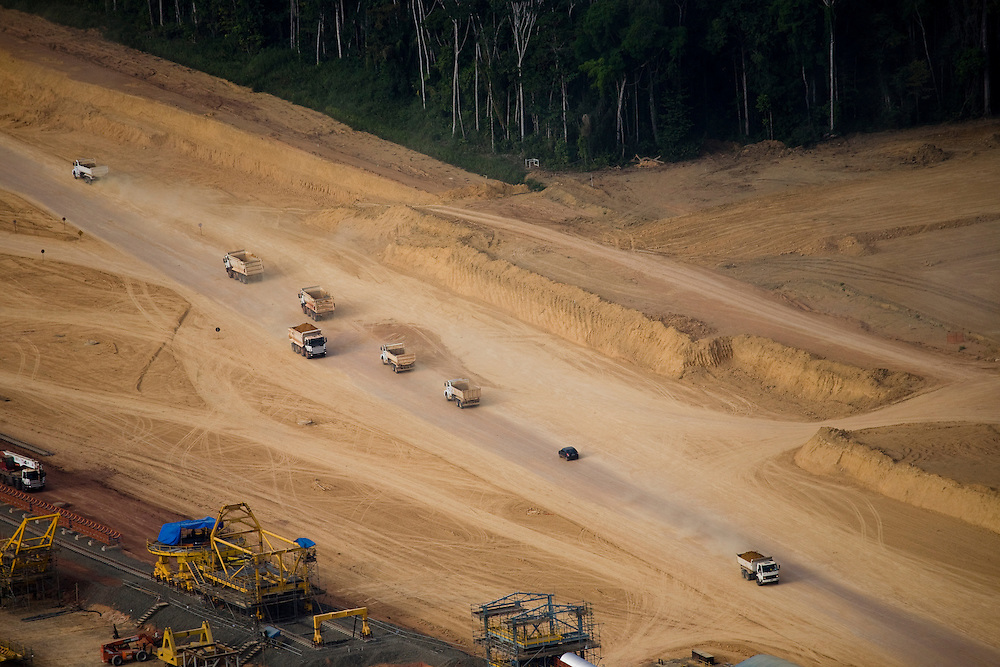Views of a bauxite mine owned by Alcoa in the Juruti Municipality, Para State, Brazil, August 13, 2008..Daniel Beltra/Greenpeace
