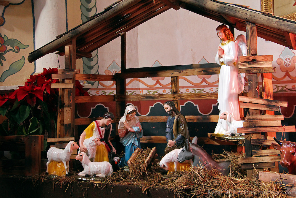 USA, California, Oceanside. Nativity at Old Mission San Luis Rey de Francia.