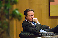 Leader of the British Conservative Party David Cameron   waits for European Commission President Jose Manuel Barroso   before bilateral meeting at European Commission headquarters in  Brussels, Belgium on 2008-12-05  © by Wiktor Dabkowski