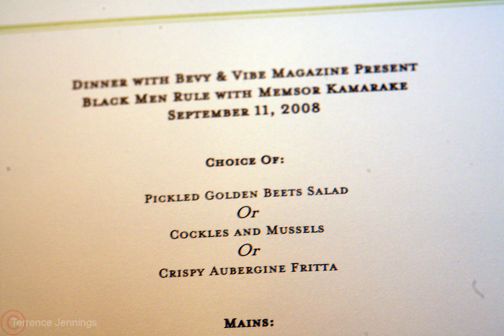Atmosphere at The VIBE Magazine & Memsor Kamarake and Beverly Smith Salute to Black Men In Fashion ? NY Fashion Week Fall ?08 held Norwood on September 11, 2008