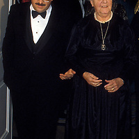 Maria von Trapp is escorted into the White House on February 28, 1994 for a State Dinner honoring Austrian President Kirschläger.