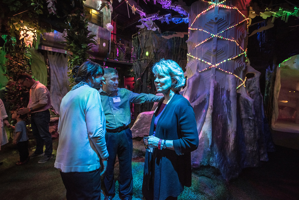 rer040317i/biz/04.03.2017/Roberto E. Rosales <br /> On Friday March 24, 2017 members of Leadership New Mexico visited  Meow Wolf in Santa Fe, New Mexico.  Pictured from left to right are Patricia Aragon(Cq), Steve Aragon(Cq) from S &amp; P Aragon, inc and Laurie Farber-Condon(cq) a real estate broker with Santa Fe Properties. <br /> Santa Fe, New Mexico(Roberto E. Rosales/Albuquerque Journal)