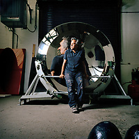 Artist Anish Kapoor, photographed in his Camberwell studio, south London..