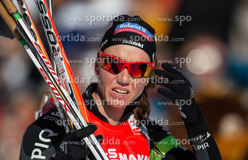 19.01.2013, Suedtirol Arena, Antholz, ITA, E. ON IBU Weltcup, Verfolgung, Damen, im Bild Selina Gasparin (SUI) // Selina Gasparin of Switzerland  during Womens Pursuit of E. ON IBU Biathlon World Cup at the Biathlonstadium in Anterselva, Italy on 2013/01/19. EXPA Pictures © 2013, PhotoCredit: .EXPA/ Juergen Feichter