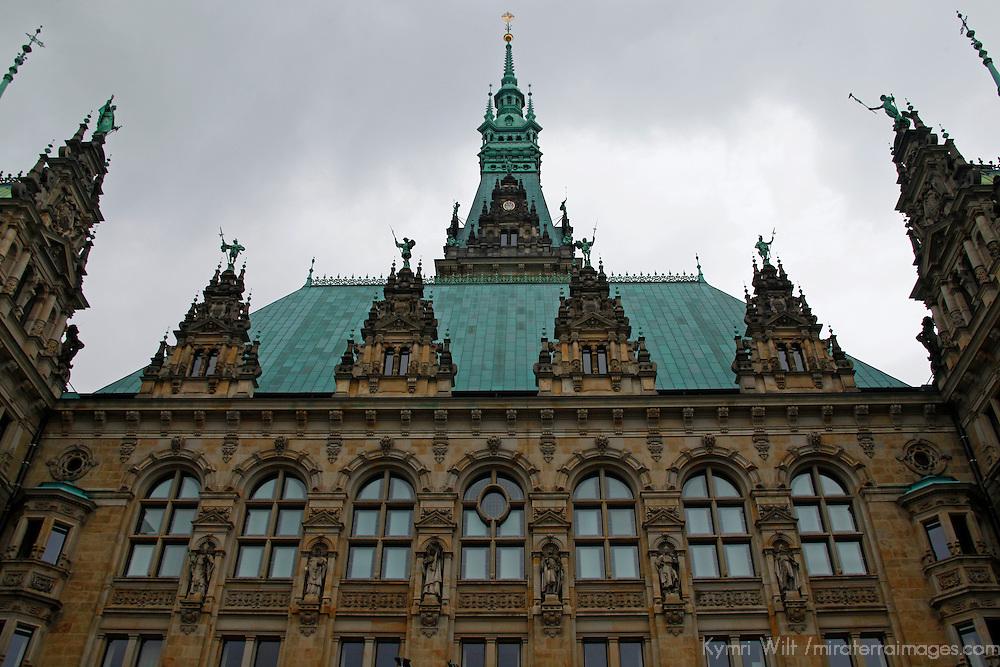 Europe, Germany, Hamburg. Courtyard view of the Hamburg Rathaus.