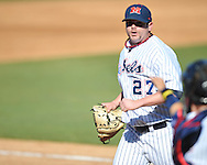 Ole Miss' R.J. Hively (27) vs. Houston at Oxford-University Stadium in Oxford, Miss. on Saturday, March 10, 2012. Ole Miss won 9-0.