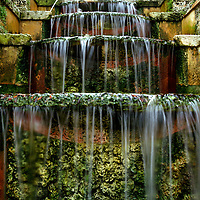 MIAMI, FL -- January 21, 2008 -- Water falls at Vizcaya Museum & Gardens in Miami, Fla., on Saturday, January 21, 2008.  Agricultural industrialist James Deering built Vizcaya Museum & Gardens in 1916 with ornate gardens and sculpture surrounding the massive main house.