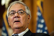 Jul 15, 2010 - Washington, District of Columbia, U.S., - Representative Barney Frank speaks during a bill enrollment ceremony for the Wall Street Reform Bill in the Capitol on Thursday. The bill will now be sent to President Barack Obama for his signature. (Credit Image: © Pete Marovich/ZUMA Press)