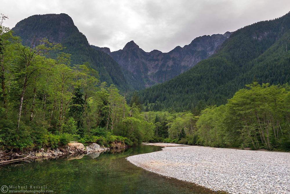 Blandshard Peak, Evans Peak and Gold Creek in Golden Ears Provincial Park in Maple Ridge, British Columbia, Canada