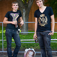 RUSSIA - Russland - MOSCOW - Close to Read Square; Black jean clad youths;     © Christian Jungeblodt