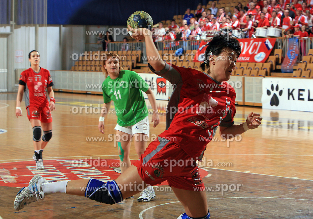 Ljudmila Bodnieva of Krim  at Women Slovenian Handball Cup, finals match between RK Olimpija and RK Krim Mercator, on April 5, 2009, in Arena Tivoli, Ljubljana, Slovenia.  (Photo by Vid Ponikvar / Sportida)