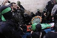 Funeral de Mazen Al-Faqhaa alto líder de Hamas, muerto a tiros en Gaza