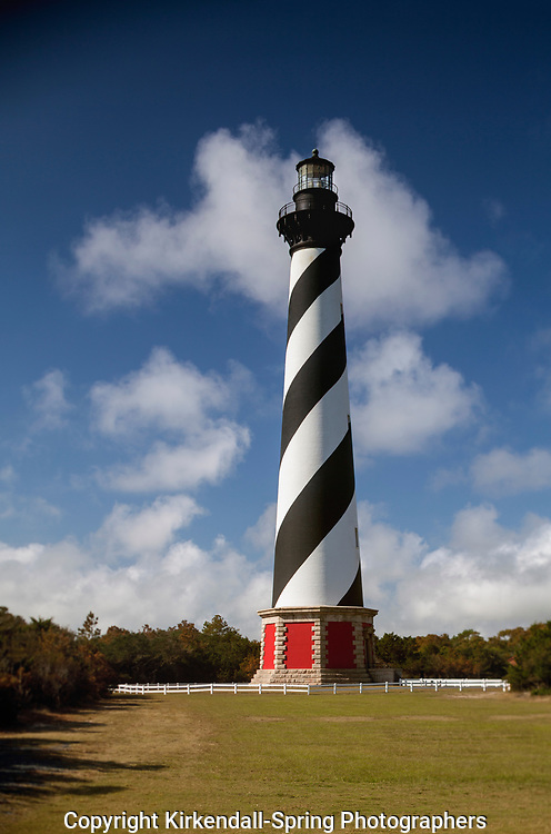 NC00814-00...NORTH CAROLINA - Cape Hatteras Lighthouse in the Cape Hatteras National Seashore near the town of Buxton.