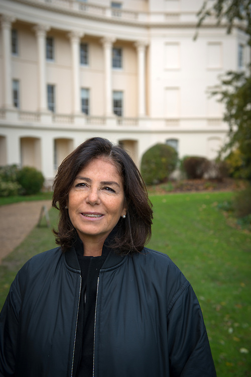 Lucrezia Reichlin,an economics professor at The London Business School, near Regent's Park, London, Britain.