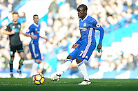 Ngolo Kanté of Chelsea during the Premier League match between Chelsea and West Bromwich Albion at Stamford Bridge, London, England on 11 December 2016. Photo by Salvio Calabrese.