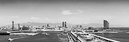 Barcelona skyline, Spain.<br /> Picture date: Thursday June 18, 2015.<br /> Photograph by Christopher Ison &copy;<br /> 07544044177<br /> chris@christopherison.com<br /> www.christopherison.com