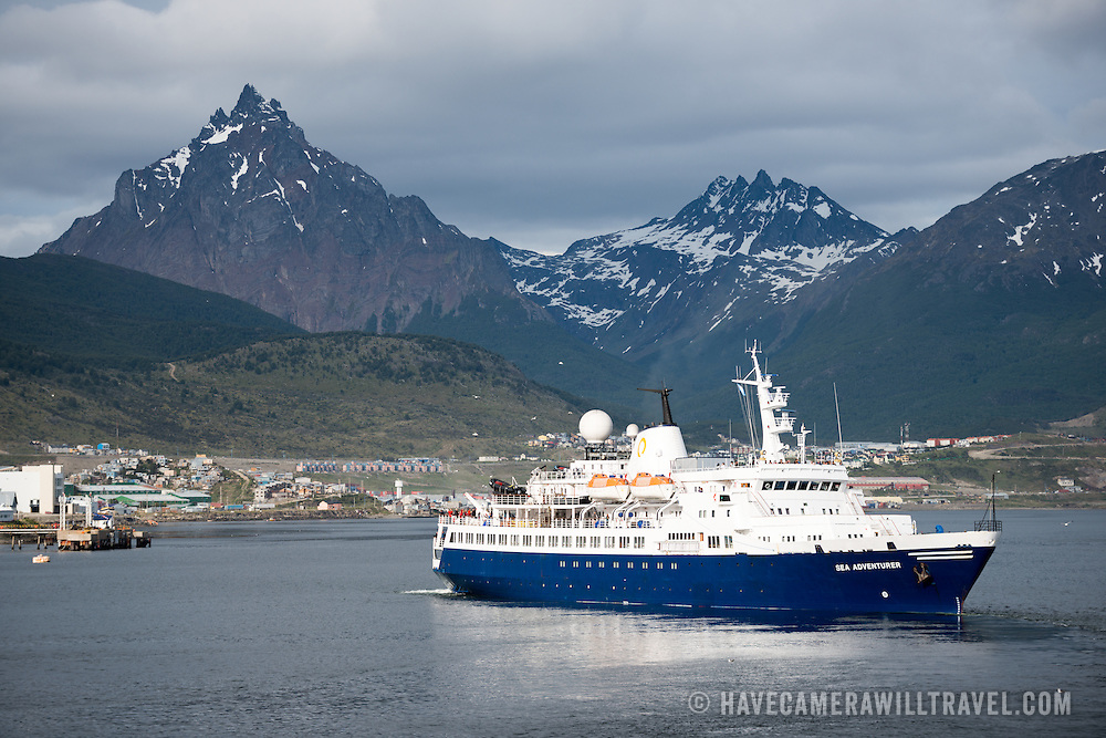 Antarctic Cruise Ship in Ushuaia Port, Argentina | Travel Stock ...