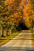 Image of a road in autumn near White River Junction, Vermont