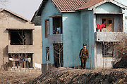 A North Korean soldier patrols in the bank of the Yalu river in Sinuiju, North Korea, on Thursday, Feb. 8, 2007. The Six Party talks have started on the 8th of February in Beijing with the hope of terminating the nuclear program of North Korea