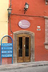 Colonial wood door in San Miguel de Allende, Mexico.